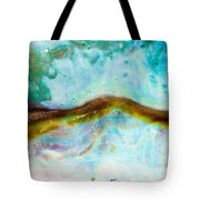 Shiny Nacre Of Paua Or Abalone Shell Background Tote Bag