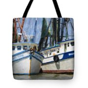Shrimp Boats On The Creek Tote Bag
