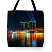 Singapore City Skyline Tote Bag