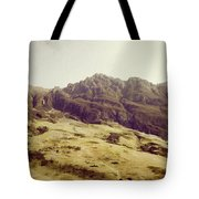 Slope Of Hills In The Scottish Highlands Tote Bag