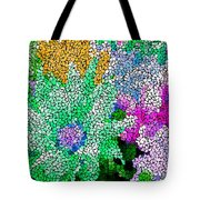 Stained Glass Flowers Tote Bag