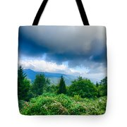 Sunrise Over Blue Ridge Mountains Scenic Overlook  Tote Bag