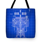 Tesla Electric Generator Patent 1894 - Blue Tote Bag