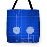 Tesla Electric Transmission Patent 1900 - Blue Tote Bag