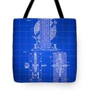 Tesla Electro Magnetic Motor Patent 1889 - Blue Tote Bag