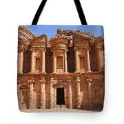 The Monastery At Petra In Jordan Tote Bag