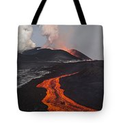Tolbachik Volcano Erupting Kamchatka Tote Bag