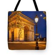 Twilight At Arc De Triomphe Tote Bag