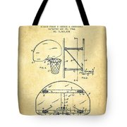 Vintage Basketball Goal Patent From 1944 Tote Bag