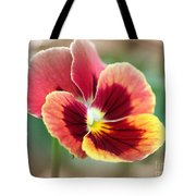 Viola Named Penny Red Blotch Tote Bag