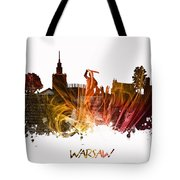 Warsaw City Skyline Tote Bag