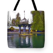 Water Tank And Premises Inside The Mattan Temple Tote Bag