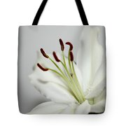 White Lily In Macro Tote Bag