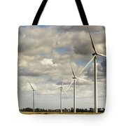 Wind Powered Electric Turbine Tote Bag