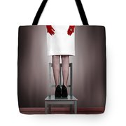 Woman On Chair Tote Bag