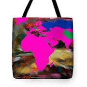 World Map And Human Life Tote Bag