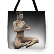 Yoga Meditation Pose Tote Bag