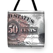 50 Cent Lincoln Bill  1863 Tote Bag