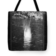 50 Shades Of Grey Abstract Black And White Painting Tote Bag