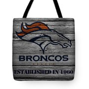 Denver Broncos Tote Bag