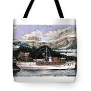 North To Alaska On A 53 Foot Classic Yacht  Tote Bag