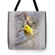 5393-006 - Pine Warbler-fb Tote Bag