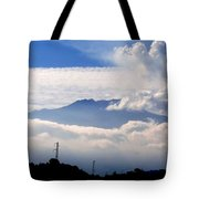 View Of Mt. Etna From Taormina Sicily Tote Bag