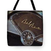 57 Chevy Bel Air Dash Tote Bag