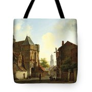 The Grass Crown Headland Of A Rocky Shore Tote Bag