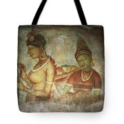 5th Century Cave Frescoes Tote Bag