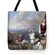 Borzoi - Russian Wolfhound Art Canvas Print Tote Bag