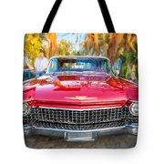 1960 Cadillac Eldorado Biarritz Convertible Painted  Tote Bag