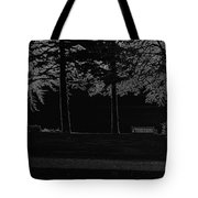 A Bench And Path On The Shore Of Loch Ness In Scotland Tote Bag