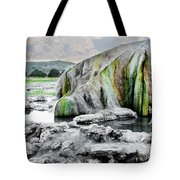A Woman Sits Alone In Travertine Hot Tote Bag