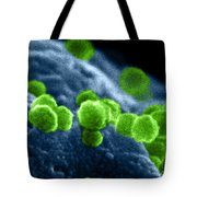 Aids Virus Tote Bag