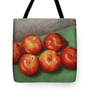 6 Apples Washed And Waiting Tote Bag