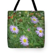 6 Asters Left Tote Bag