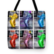 6 Ballerinas Dancing Tote Bag