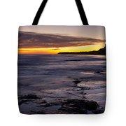 Bamburgh Castle At Sunrise Tote Bag