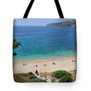 Beach In Legrena Tote Bag