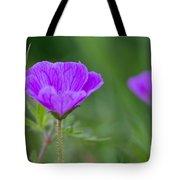 Bloody Geranium Wild Flower Tote Bag