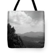 Blue Ridge Mountains - Virginia Bw 3 Tote Bag