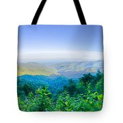 Blue Ridge Parkway National Park Sunset Scenic Mountains Summer  Tote Bag