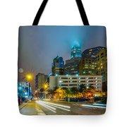 Charlotte City Skyline  Tote Bag