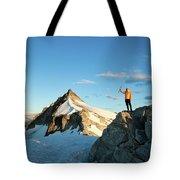 Climbing Cypress Peak Tote Bag