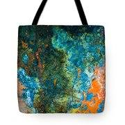 Colored Rust Metal Tote Bag
