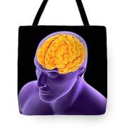 Conceptual Image Of Human Brain Tote Bag