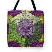 Dodecahedron In A Metatron's Cube Tote Bag