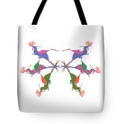 6 Dragons Breathing Fire Tote Bag