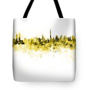 Dubai Skyline In Watercolour On White Background Tote Bag